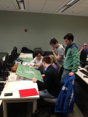 An analytic decision game underway in Penn State's College of Information Sciences and Technology is pitting students against a massive natural disaster.