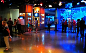 """The """"America's Most Wanted"""" studio at the Crime Museum"""